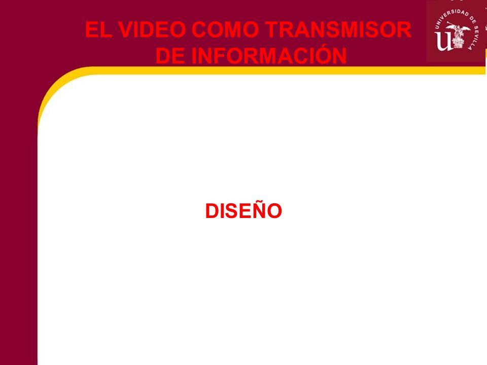 DISEÑO EL VIDEO COMO TRANSMISOR DE INFORMACIÓN