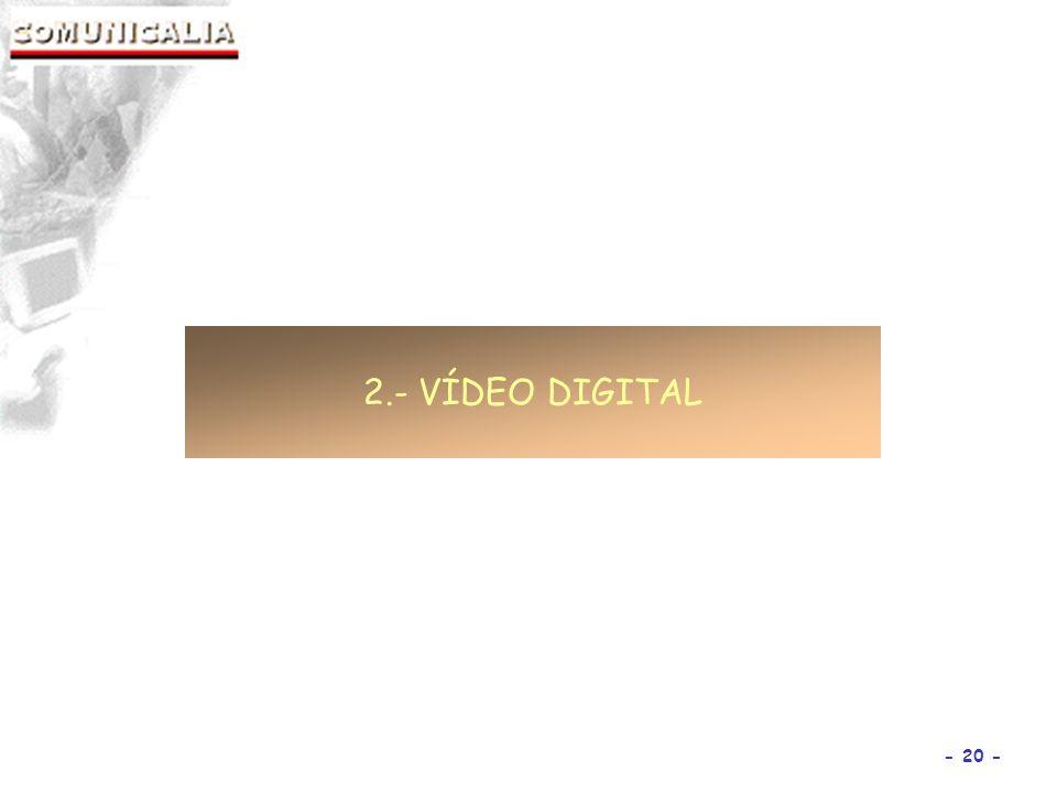 - 20 - 2.- VÍDEO DIGITAL