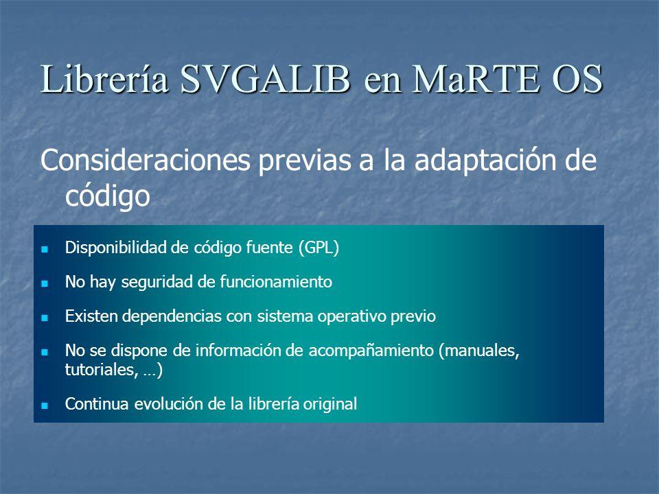 Consideraciones previas a la adaptación de código Disponibilidad de código fuente (GPL) No hay seguridad de funcionamiento Existen dependencias con si