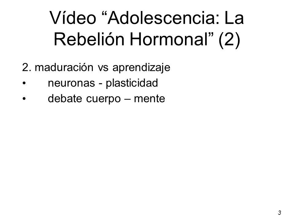 3 Vídeo Adolescencia: La Rebelión Hormonal (2) 2.