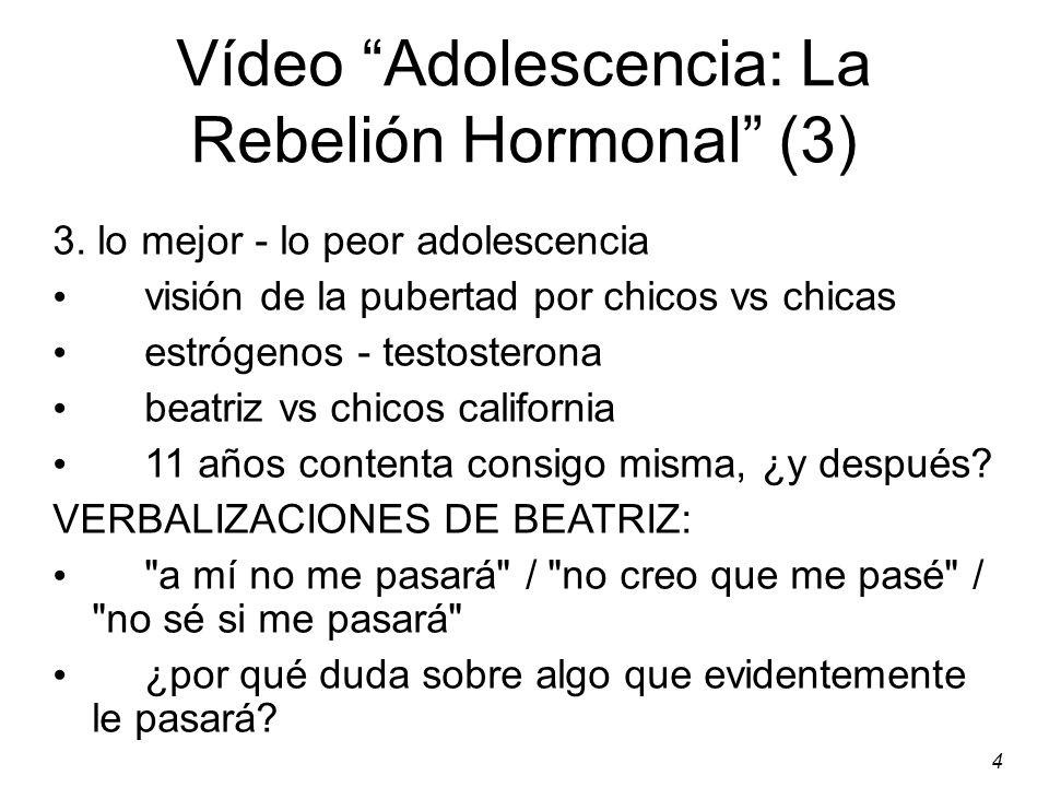 4 Vídeo Adolescencia: La Rebelión Hormonal (3) 3.