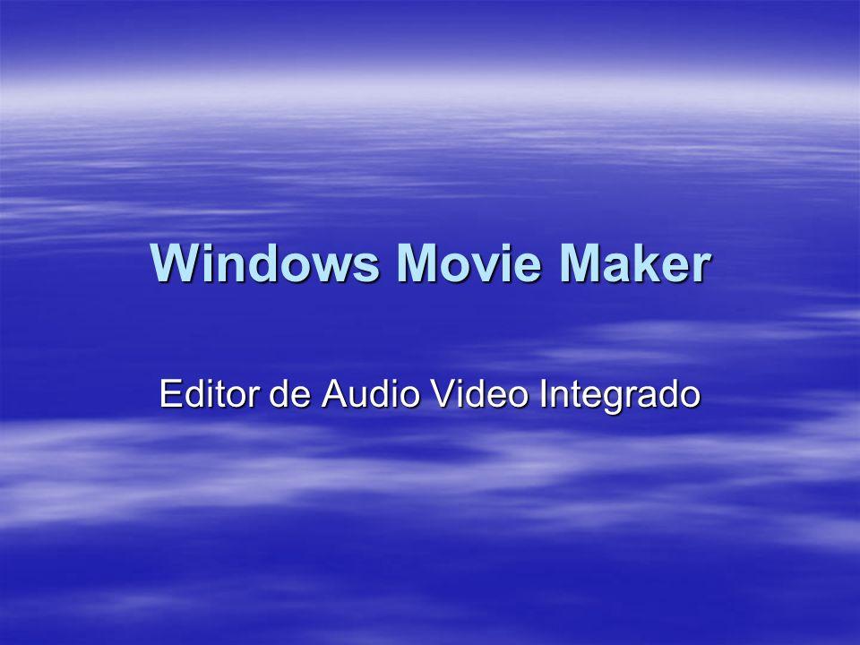 Windows Movie Maker Editor de Audio Video Integrado