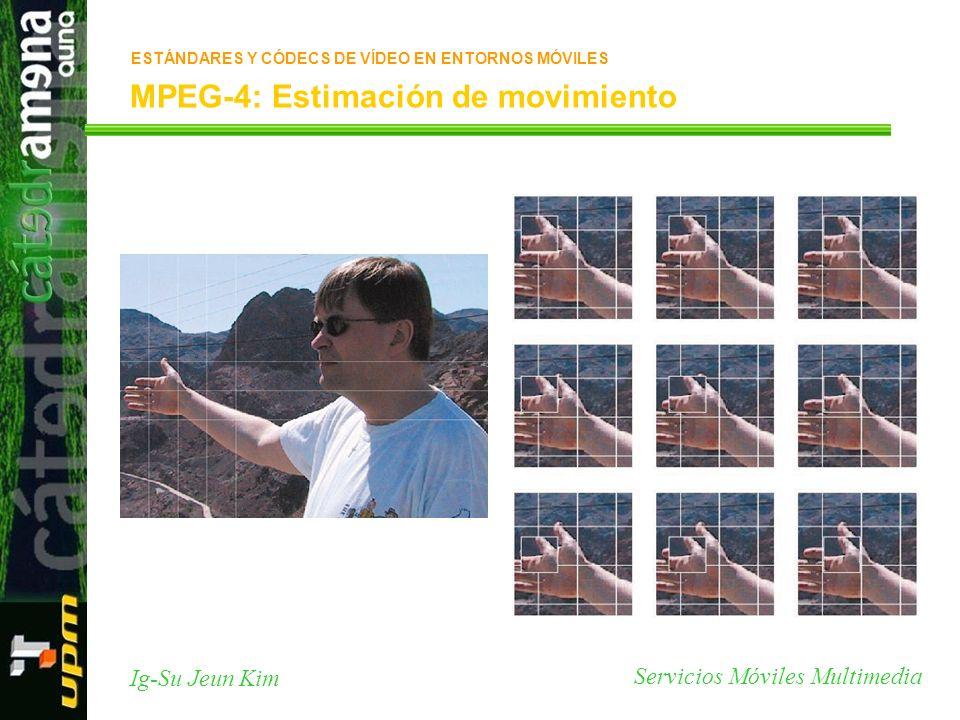 Servicios Móviles Multimedia Ig-Su Jeun Kim MPEG-4: Estimación de movimiento ESTÁNDARES Y CÓDECS DE VÍDEO EN ENTORNOS MÓVILES