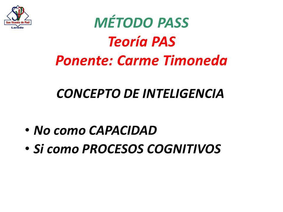 Unidades básicas de funcionamiento cognitivo 1.Input o entrada de información.