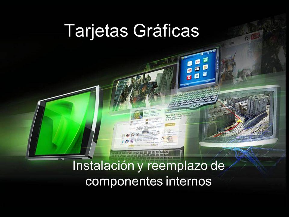 Fabricantes En el mercado de las tarjetas gráficas hay que distinguir dos tipos de fabricantes: De chips: generan exclusivamente la GPU.