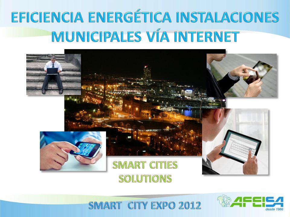 Eficiencia Energética por Internet Ámbito Municipal Global Vial Urbano Ornamental Autoajuste Mando Alumbrado Control Energético Instalaciones Educación Edificios Polideportivos