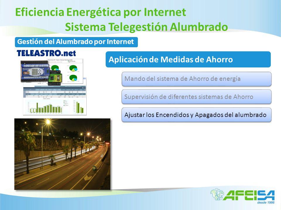 Eficiencia Energética por Internet Sistema Telegestión Alumbrado Gestión del Alumbrado por Internet Aplicación de Medidas de Ahorro Mando del sistema