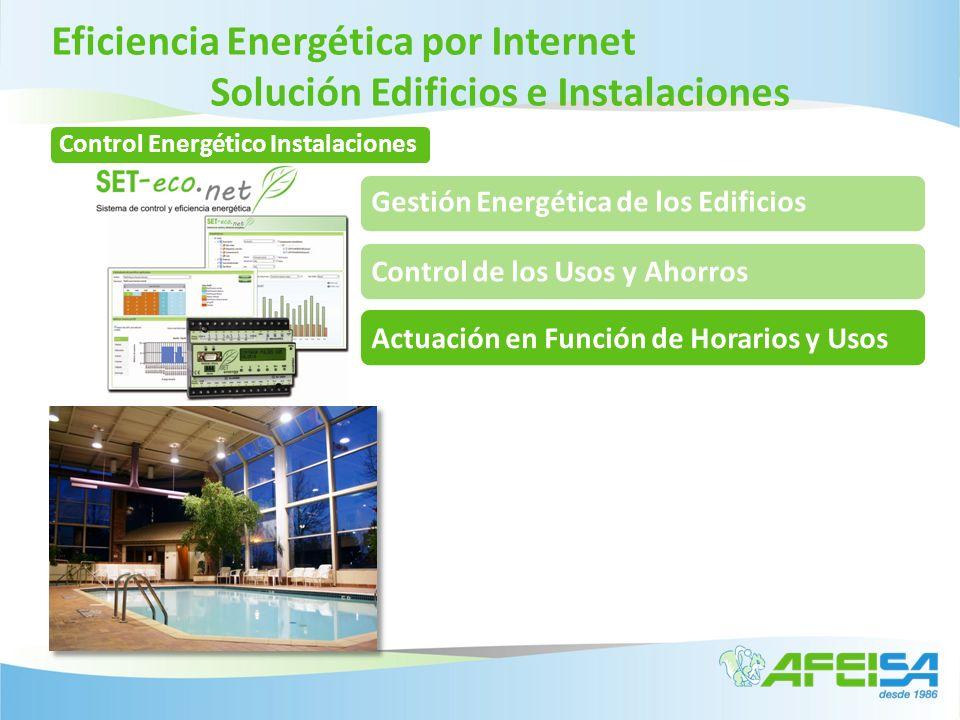 Eficiencia Energética por Internet Solución Edificios e Instalaciones Gestión Energética de los Edificios Control de los Usos y AhorrosActuación en Fu