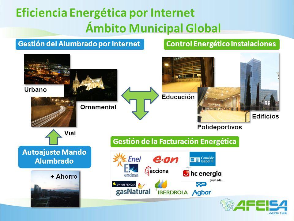 Control Energético Instalaciones Educación Edificios Polideportivos Vial Urbano Ornamental Autoajuste Mando Alumbrado Eficiencia Energética por Intern