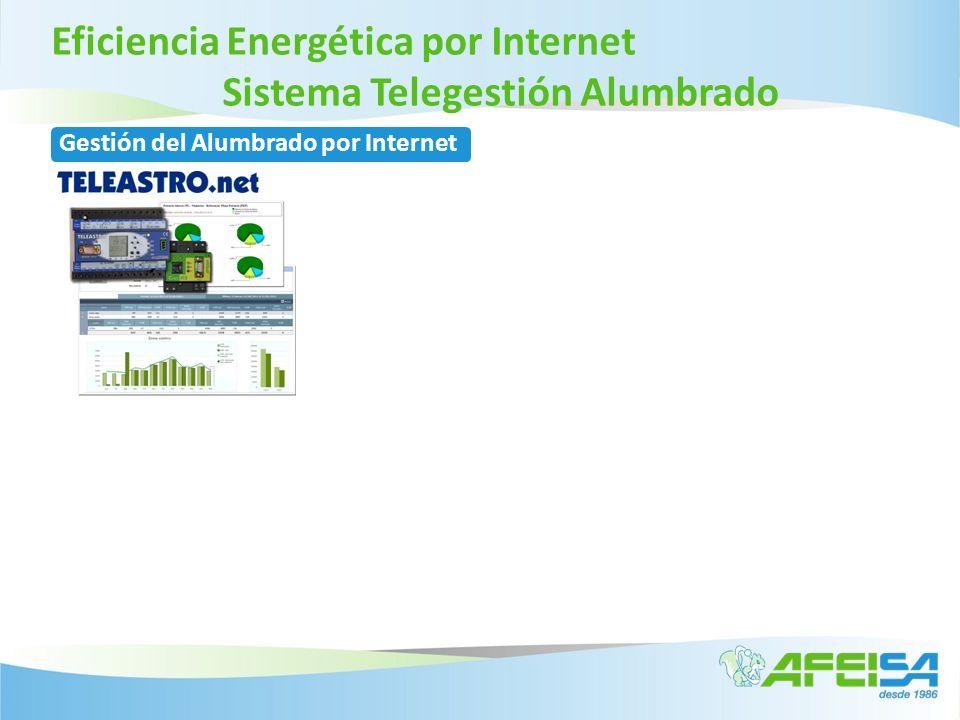 Eficiencia Energética por Internet Sistema Telegestión Alumbrado Gestión del Alumbrado por Internet Control de los Consumos reales Análisis Energético de la instalación Gestión Energética del Alumbrado Exterior