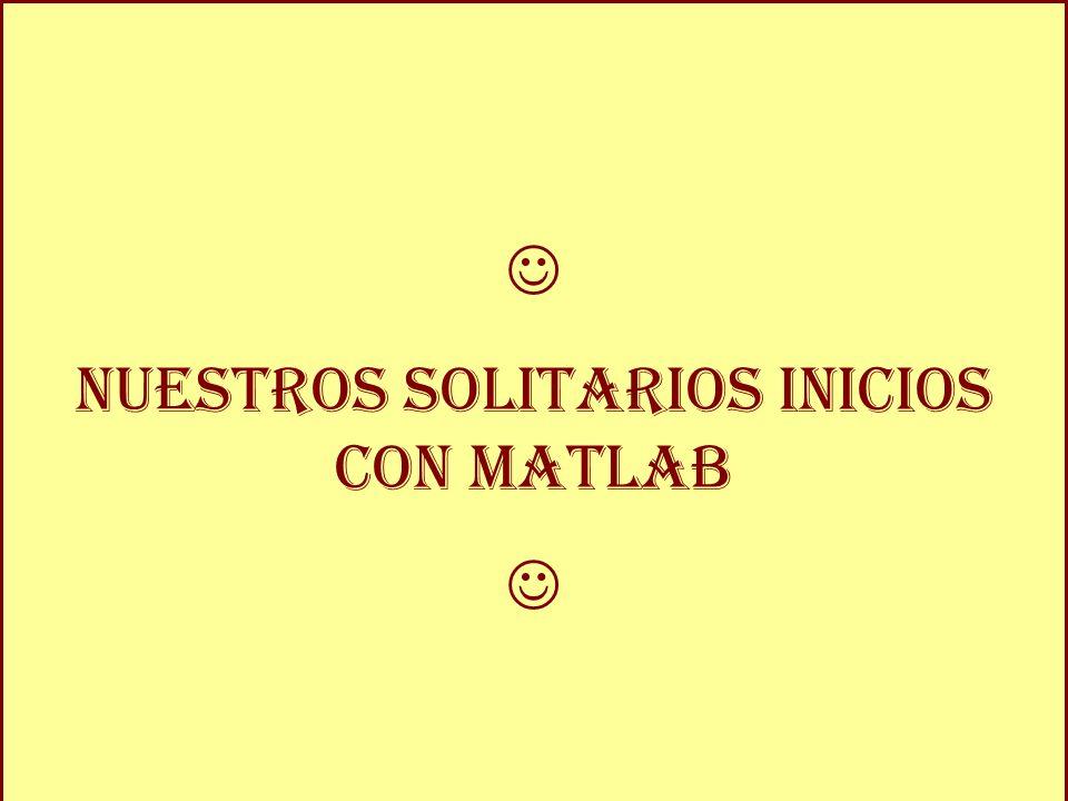 María Fernández Alepuz Y si me complico muy mucho, ¿ ser é capaz? Nuestros solitarios inicios con Matlab