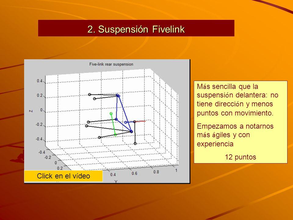 2. Suspensión Fivelink M á s sencilla que la suspensi ó n delantera: no tiene direcci ó n y menos puntos con movimiento. Empezamos a notarnos m á s á