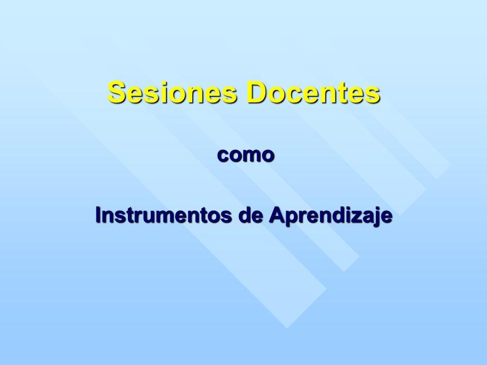 Sesiones Docentes Instrumentos de Aprendizaje como