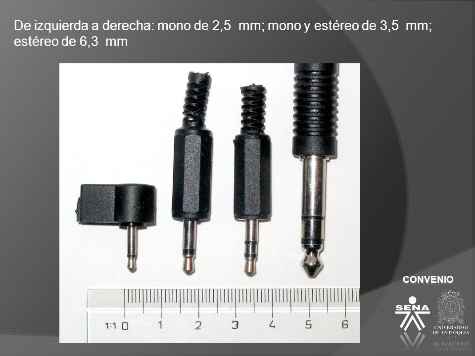 CONVENIO XLR XLR-3 Es un tipo de conector que suele conectarse en líneas balanceadas.