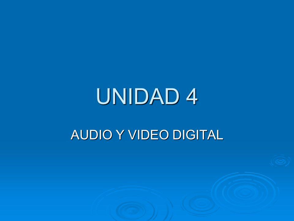 UNIDAD 4 AUDIO Y VIDEO DIGITAL