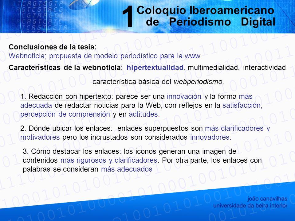 característica básica del webperiodismo. 1.