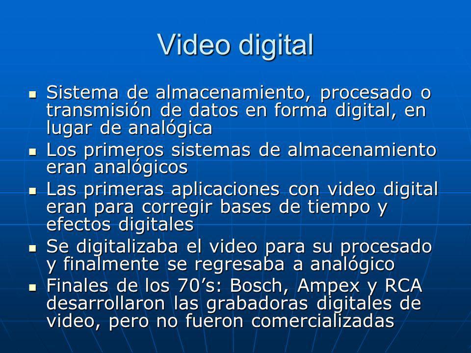 Sistema de almacenamiento, procesado o transmisión de datos en forma digital, en lugar de analógica Sistema de almacenamiento, procesado o transmisión