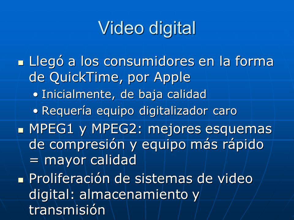 Video digital Llegó a los consumidores en la forma de QuickTime, por Apple Llegó a los consumidores en la forma de QuickTime, por Apple Inicialmente,