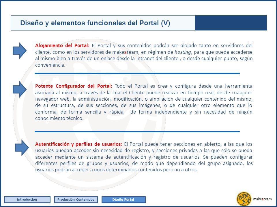 Alojamiento del Portal: El Portal y sus contenidos podrán ser alojado tanto en servidores del cliente, como en los servidores de makeateam, en régimen