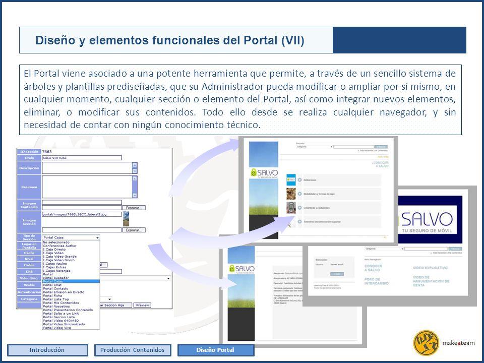 El Portal viene asociado a una potente herramienta que permite, a través de un sencillo sistema de árboles y plantillas prediseñadas, que su Administr