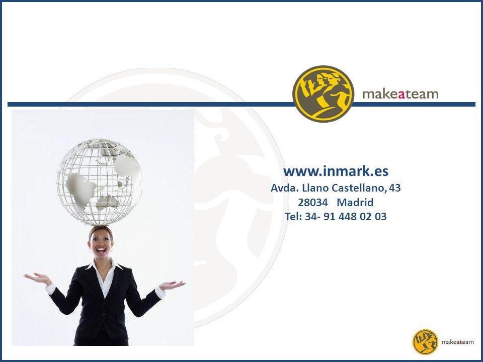 www.inmark.es Avda. Llano Castellano, 43 28034 Madrid Tel: 34- 91 448 02 03