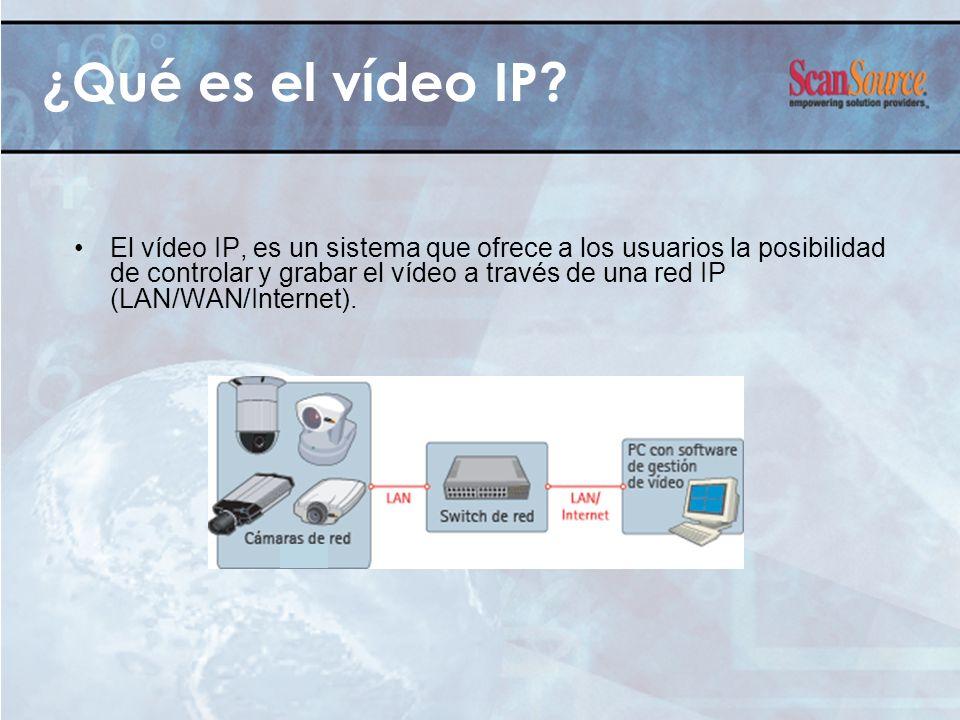 ¿Qué es el vídeo IP? El vídeo IP, es un sistema que ofrece a los usuarios la posibilidad de controlar y grabar el vídeo a través de una red IP (LAN/WA