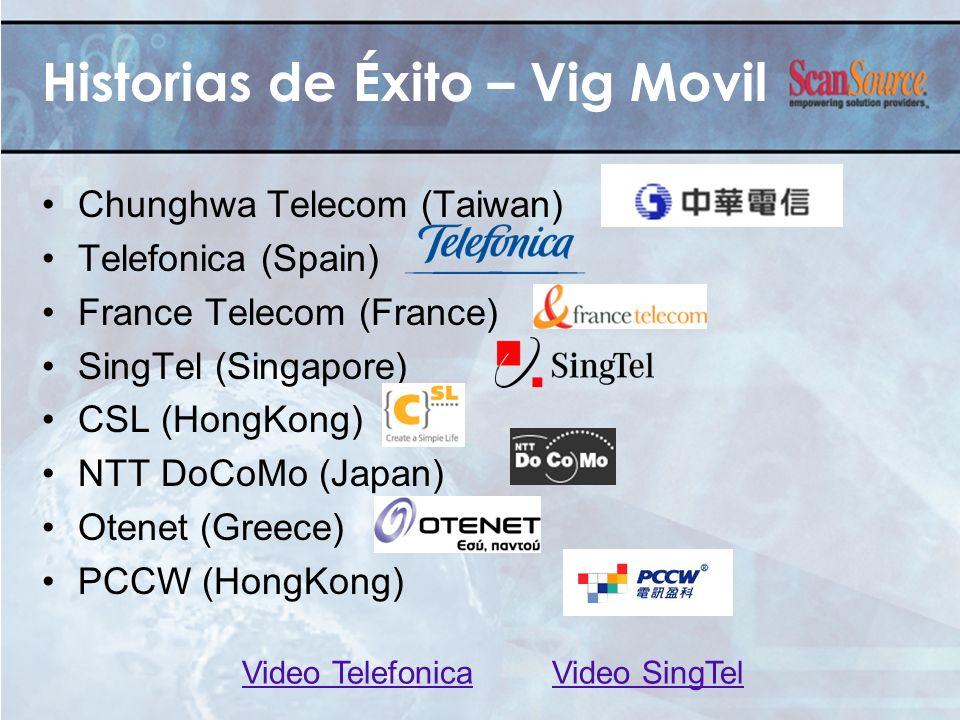 Historias de Éxito – Vig Movil Chunghwa Telecom (Taiwan) Telefonica (Spain) France Telecom (France) SingTel (Singapore) CSL (HongKong) NTT DoCoMo (Jap