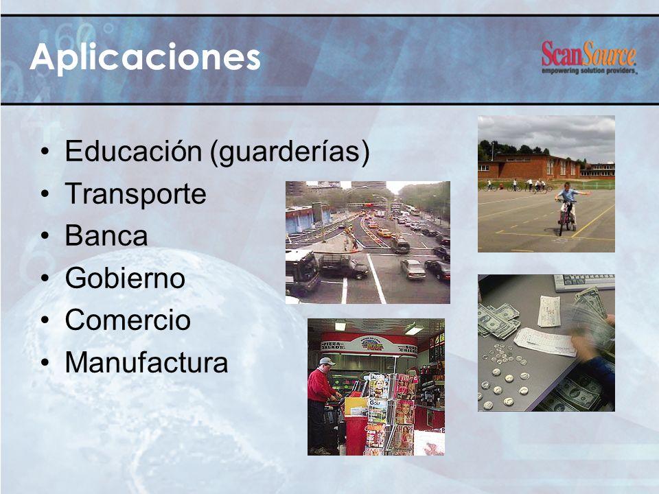 Aplicaciones Educación (guarderías) Transporte Banca Gobierno Comercio Manufactura