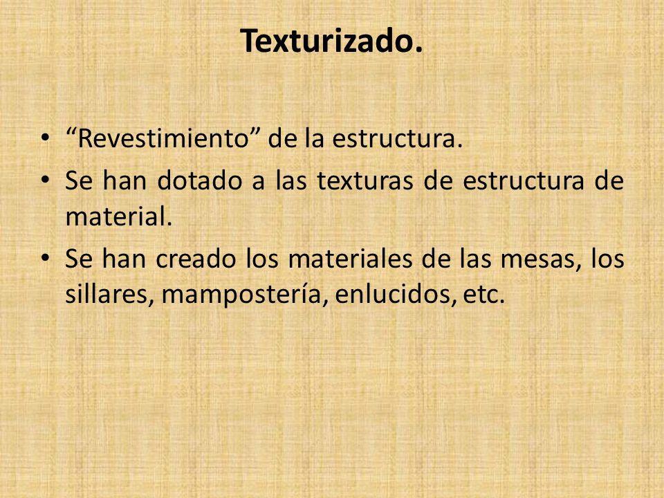 Texturizado. Revestimiento de la estructura.