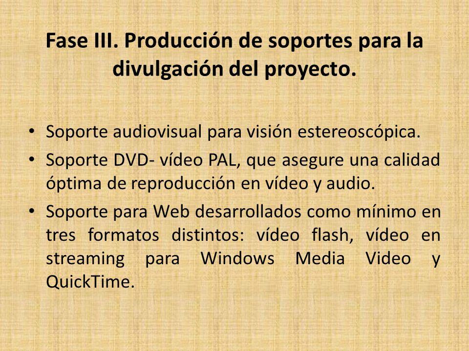 Fase III. Producción de soportes para la divulgación del proyecto.