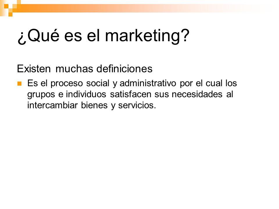 Segmentación de mercados Niveles de segmentación de mercado Marketing masivo Marketing de segmento Marketing de Nicho Micro Marketing