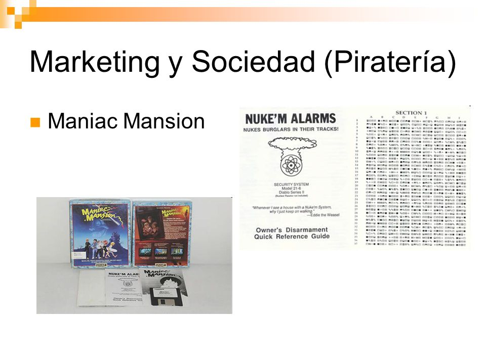 Marketing y Sociedad (Piratería) Maniac Mansion