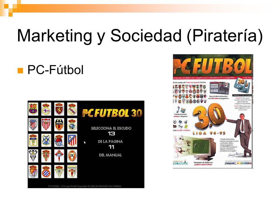 Marketing y Sociedad (Piratería) PC-Fútbol