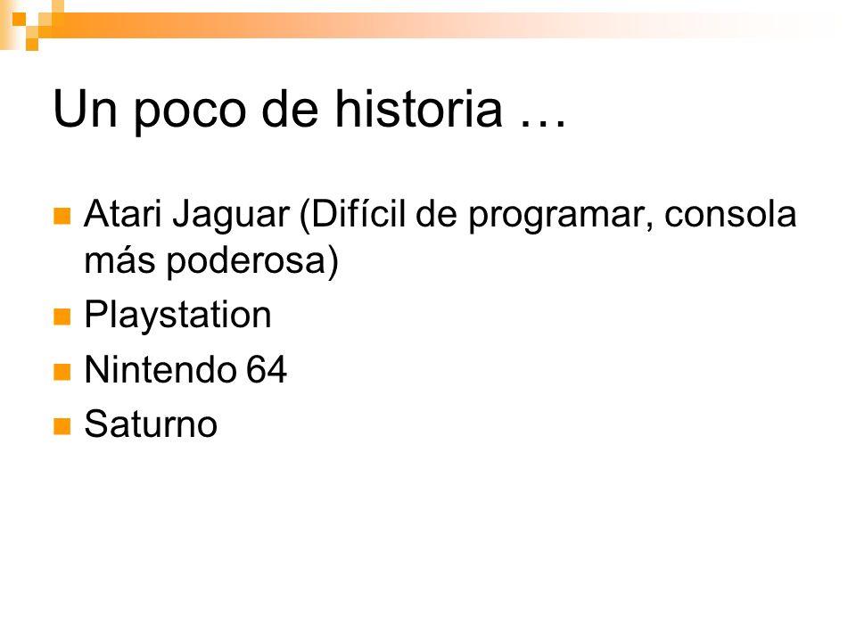 Atari Jaguar (Difícil de programar, consola más poderosa) Playstation Nintendo 64 Saturno