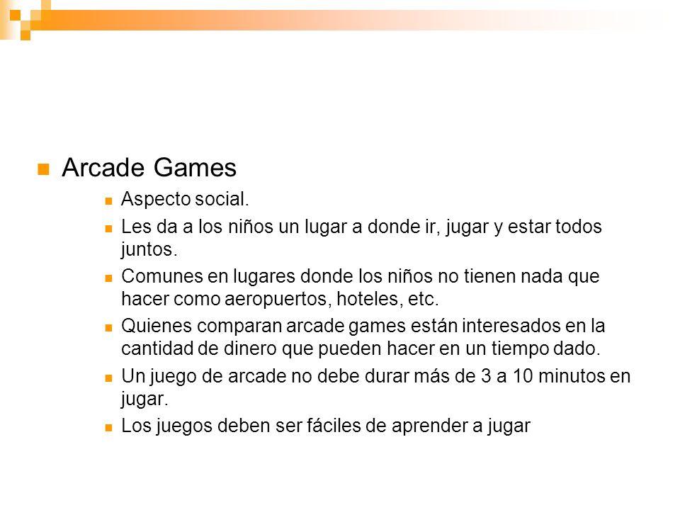 Arcade Games Aspecto social.Les da a los niños un lugar a donde ir, jugar y estar todos juntos.