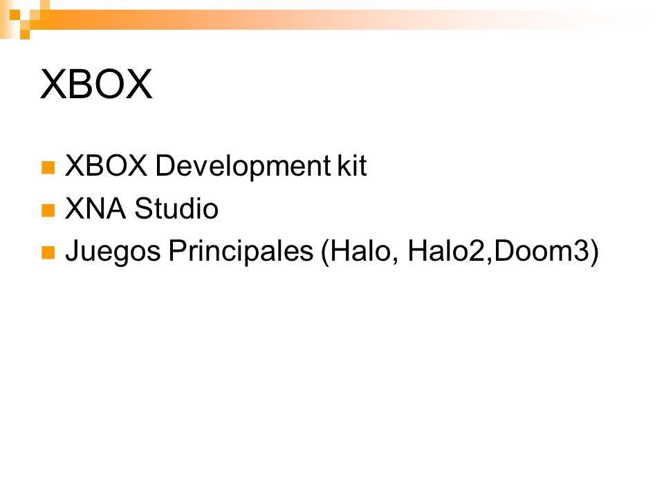 XBOX XBOX Development kit XNA Studio Juegos Principales (Halo, Halo2,Doom3)