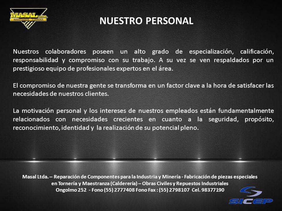 NUESTRO PERSONAL Masal Ltda.