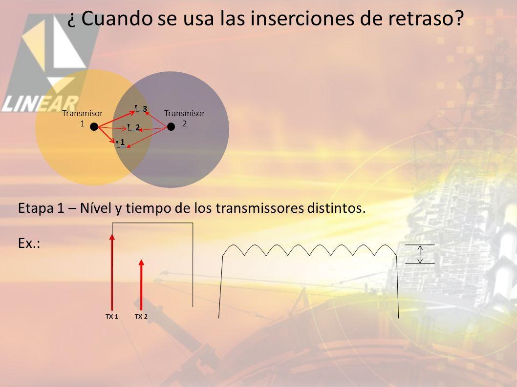 1 2 3 Etapa 1 – Nível y tiempo de los transmissores distintos.