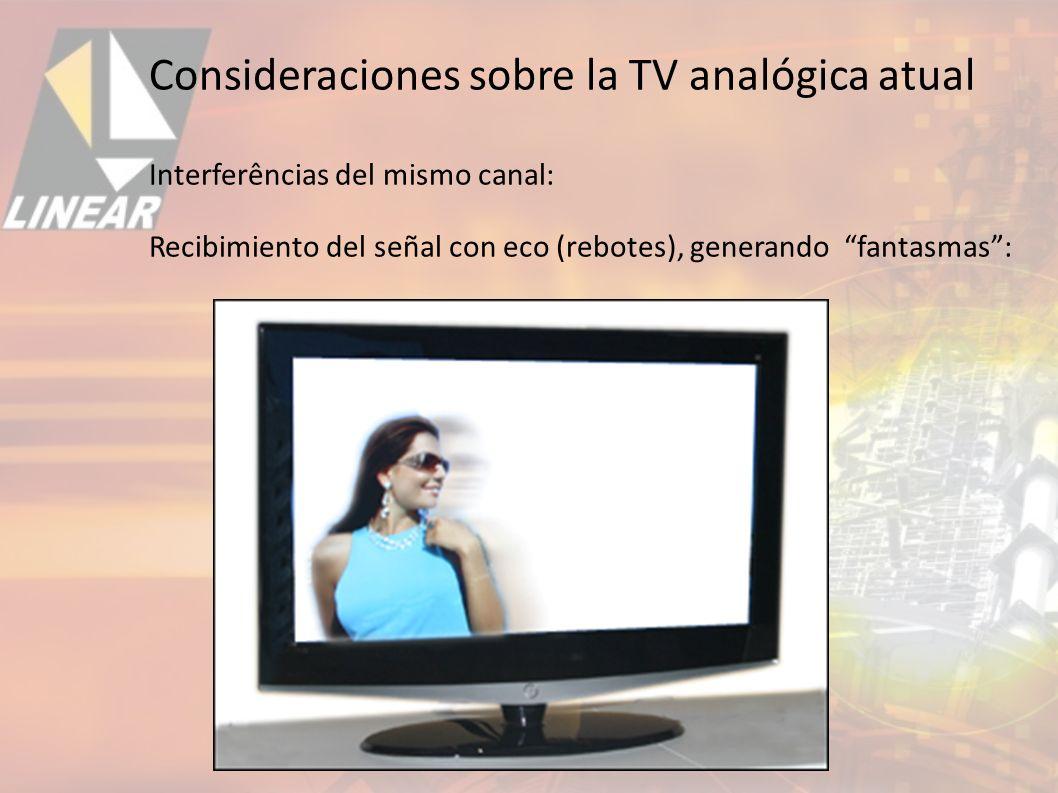 Interferências del mismo canal: Recibimiento del señal con eco (rebotes), generando fantasmas: Consideraciones sobre la TV analógica atual