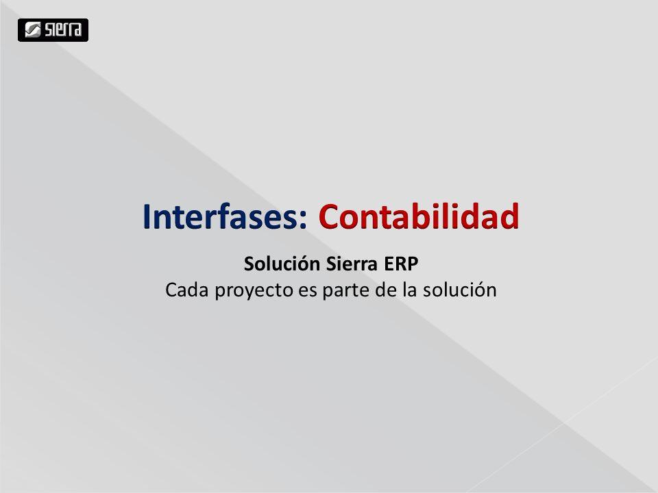 Solución Sierra ERP Cada proyecto es parte de la solución