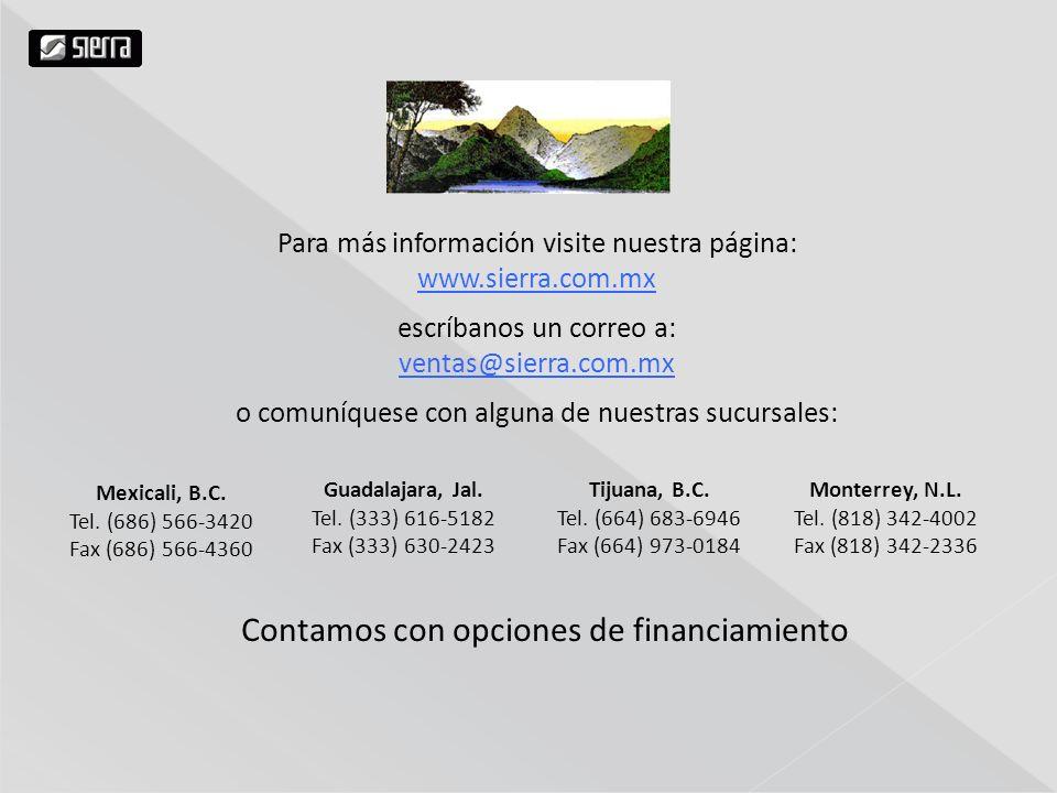 Contamos con opciones de financiamiento Mexicali, B.C.