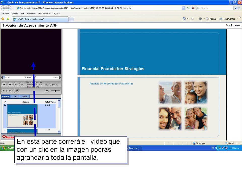 13 En esta parte correrá el vídeo que con un clic en la imagen podrás agrandar a toda la pantalla.