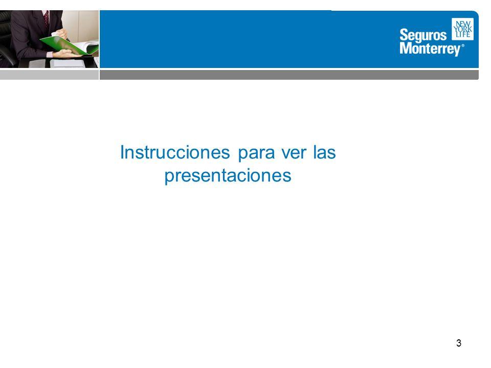 3 Instrucciones para ver las presentaciones