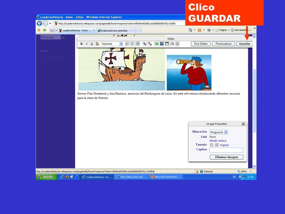 Clico GUARDAR