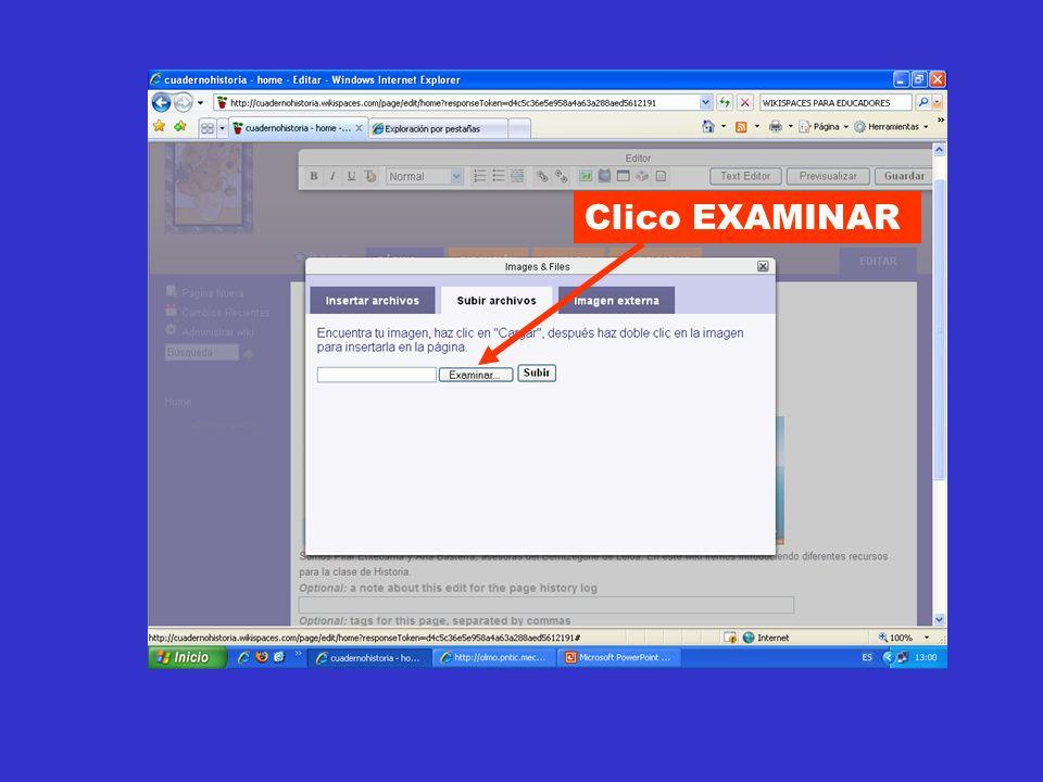 Clico EXAMINAR
