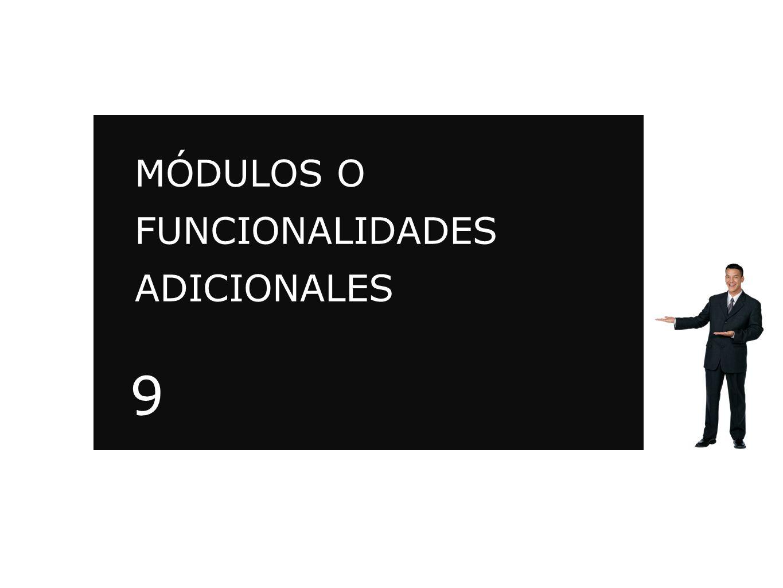 MÓDULOS O FUNCIONALIDADES ADICIONALES MEDIAPLAY.TV 9