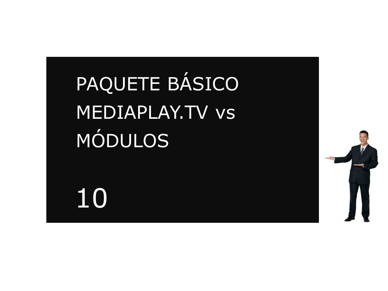 PAQUETE BÁSICO MEDIAPLAY.TV vs MÓDULOS MEDIAPLAY.TV 10