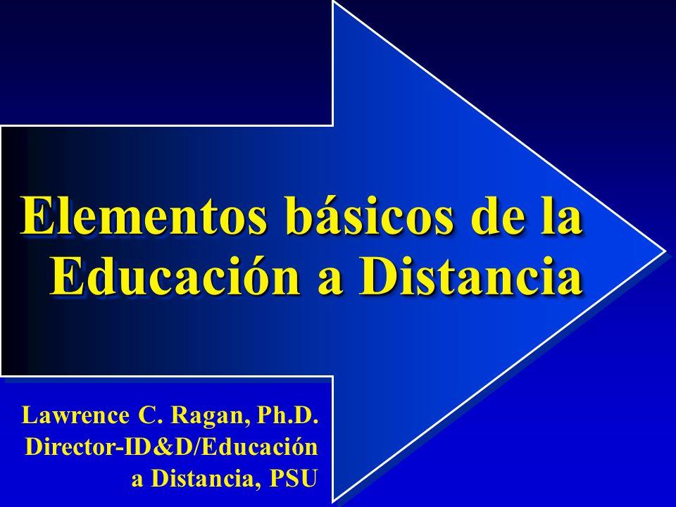 2 La educación presencial Cara a cara, ofrecida en clase Un modelo instruccional donde el aprendiz y los recursos de aprendizaje están en el mismo sitio y en el mismo tiempo Puede emplearse tanto en actividades individuales como grupales