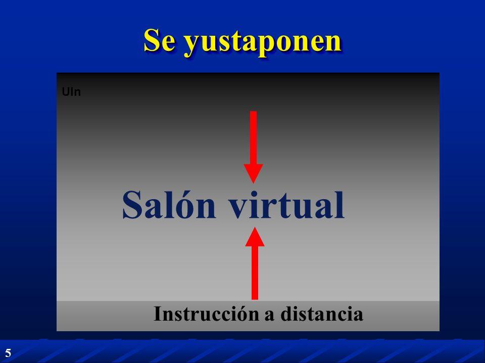 5 UIn Se yustaponen Salón virtual Instrucción a distancia