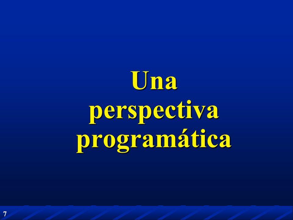 7 Una perspectiva programática